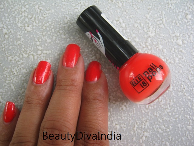 Elle 18 Nail Pops Shade 70 Notd Review Beautydiva India