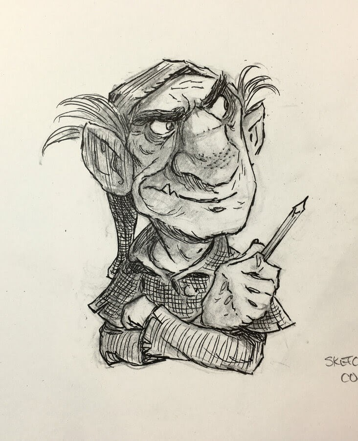 06-Sketching-Goblin-Tony-DiTerlizzi-www-designstack-co