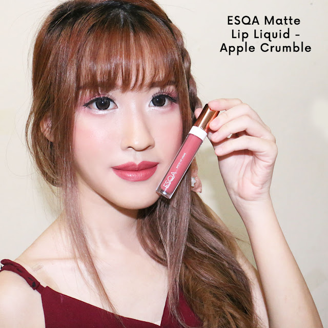 esqa matte lip liquid swatches