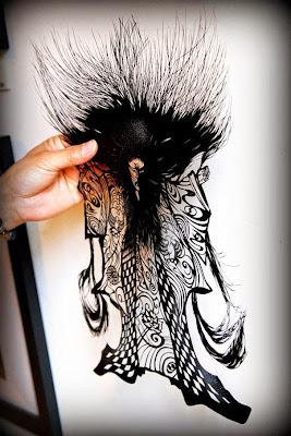 Arte japones cortado a mano