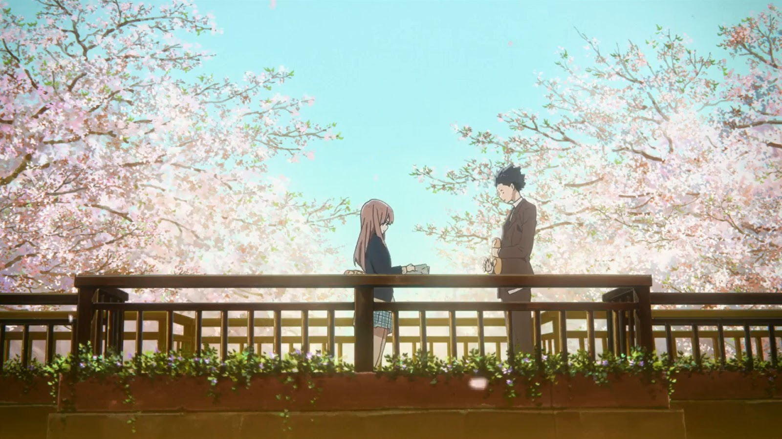 Screen z anime Koe no Katachi