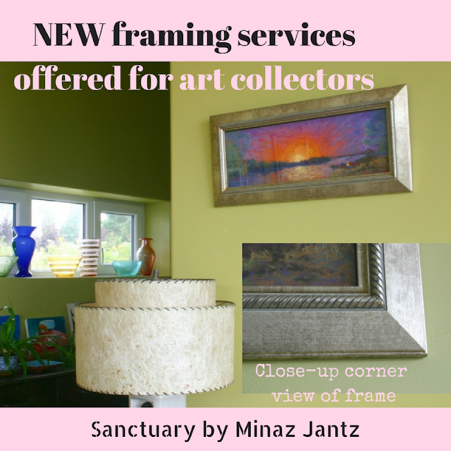 New framing services offered to art collectors by Minaz Jantz