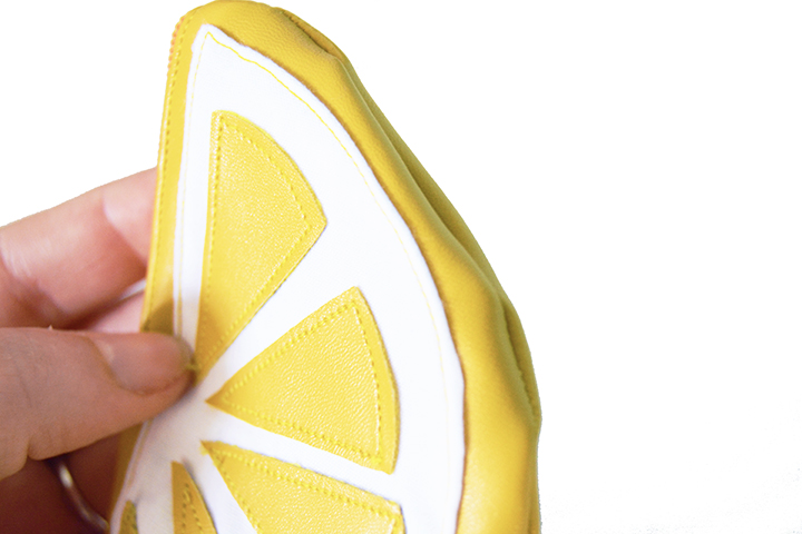 étape 7 diy porte monnaie citron