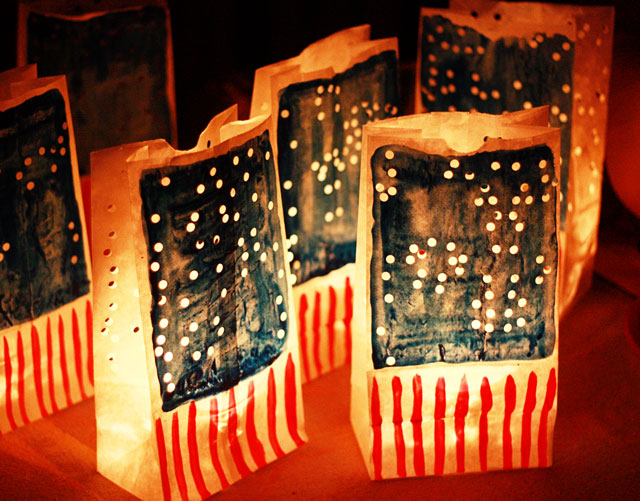 Patriotic Luminaries | Patriotic 4th Of July Party Ideas You Can DIY On A Budget