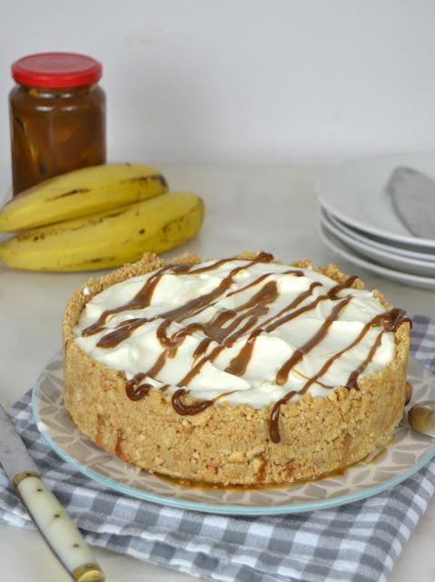 Tarta de plátano con ron y dulce de leche ¡Sin horno!