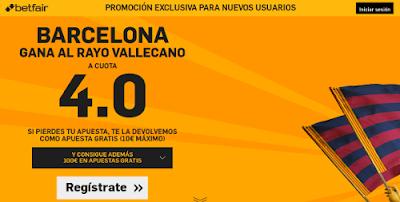 betfair Barcelona gana Rayo supercuota 4 Liga 3 marzo