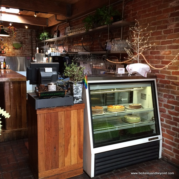 check-in at Cafe Gratitude in Berkeley, California