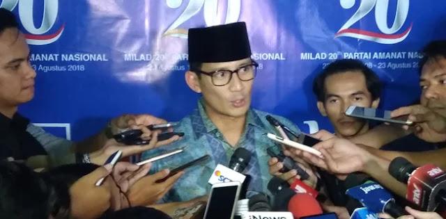 Sandiaga Yakin Jokowi Jadi Pemenang Jika Programnya Memang Berhasil