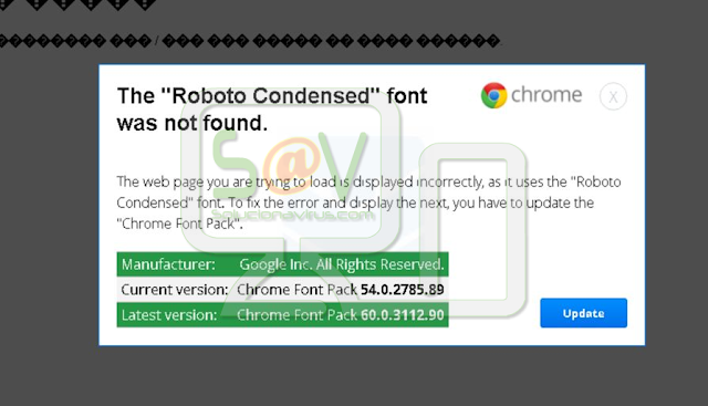 """The Roboto Condensed font was not found"" (Falso mensaje soporte)"