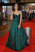Raashi Khanna in Dark Green Sleeveless Strapless Deep neck Gown at 64th Jio Filmfare Awards South ~  Exclusive 079.JPG
