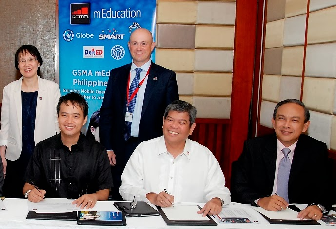 Globe Telecom signs mEducation MoU with DepEd, TESDA, and other telcos