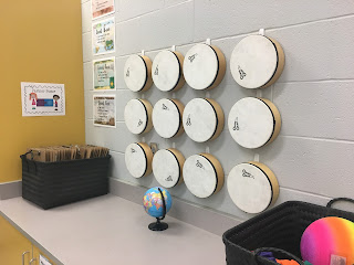 Music Classroom Reveal: Lots of great ideas for a travel-themed music room!