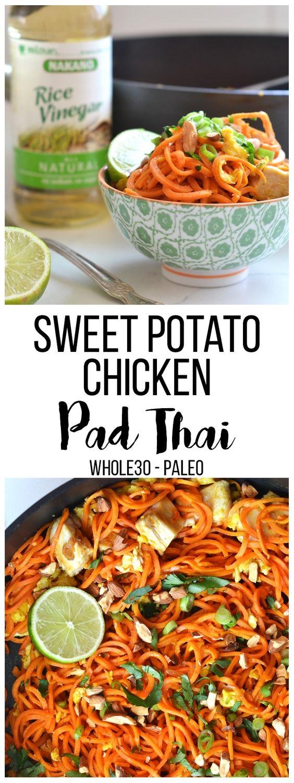 Sweet Potato Chicken Pad Thai