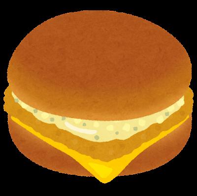 フィッシュバーガーのイラスト