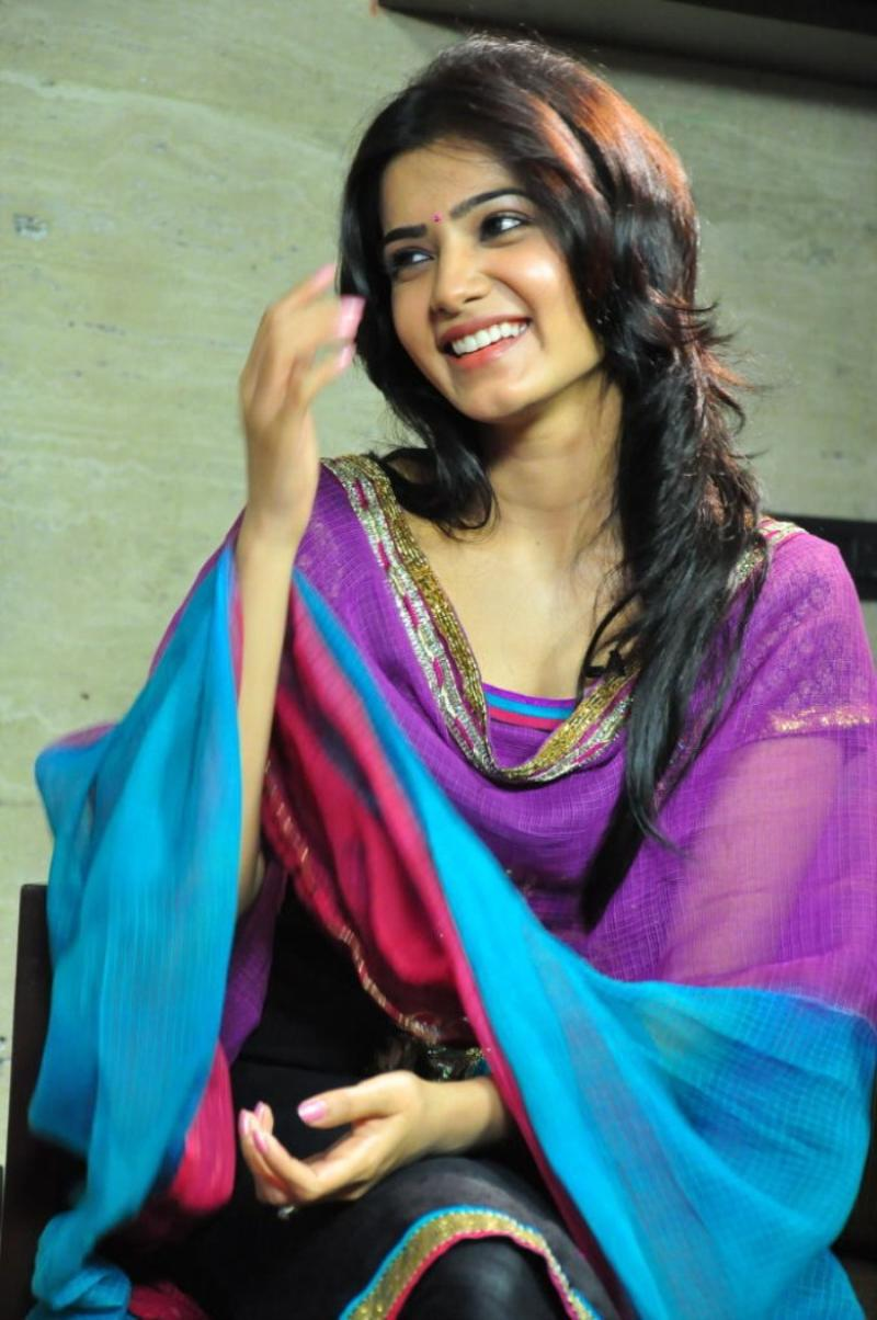 Samantha In Saree: Kanyakumari Best Clikz: Samantha Cute Latest Stills
