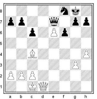 Posición de la partida de ajedrez Spassky - Donner (Beverwijk, 1970)