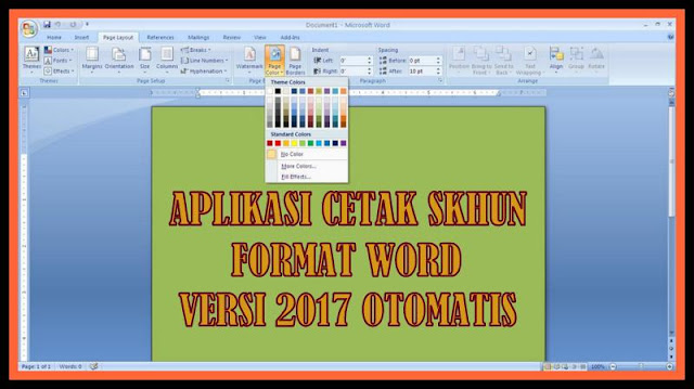 Aplikasi Cetak SKHUN Format Terbaru Versi 2017 Otomatis