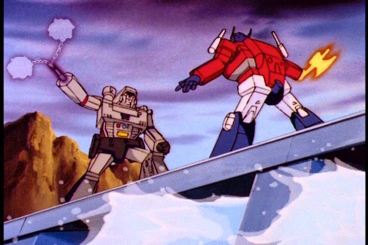 Episode guide more than meets the eye the mec - Transformers cartoon optimus prime vs megatron ...