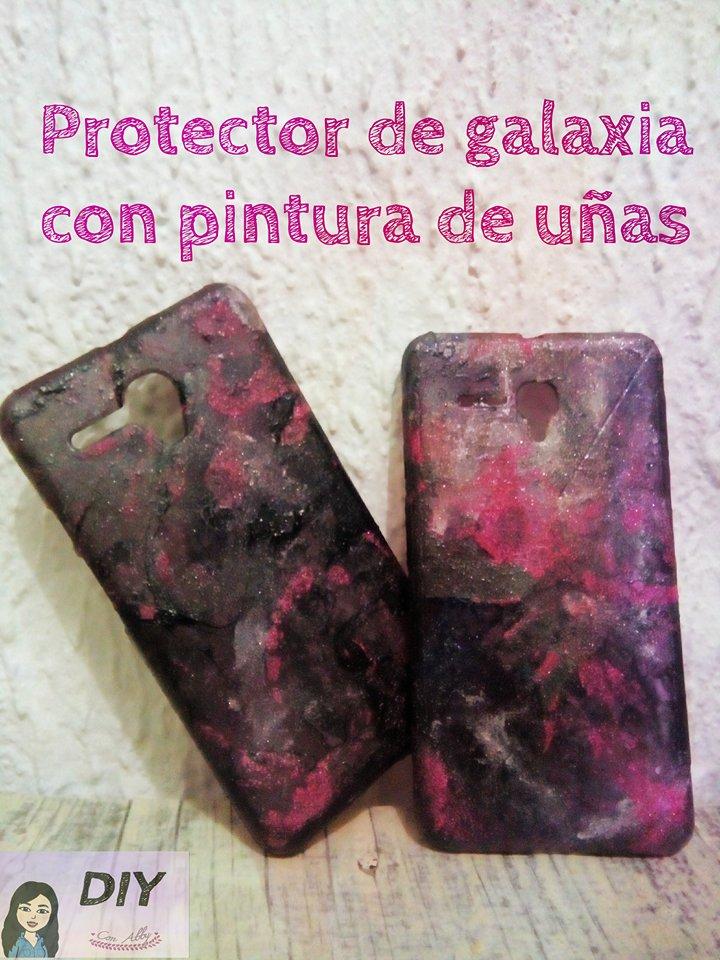 Diy con abby protector de galaxia con pinturas de u as for Protector de pintura