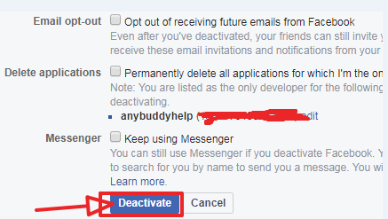 finally deactivate here page