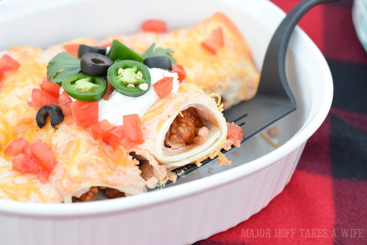 Hot Wing Chicken Enchiladas