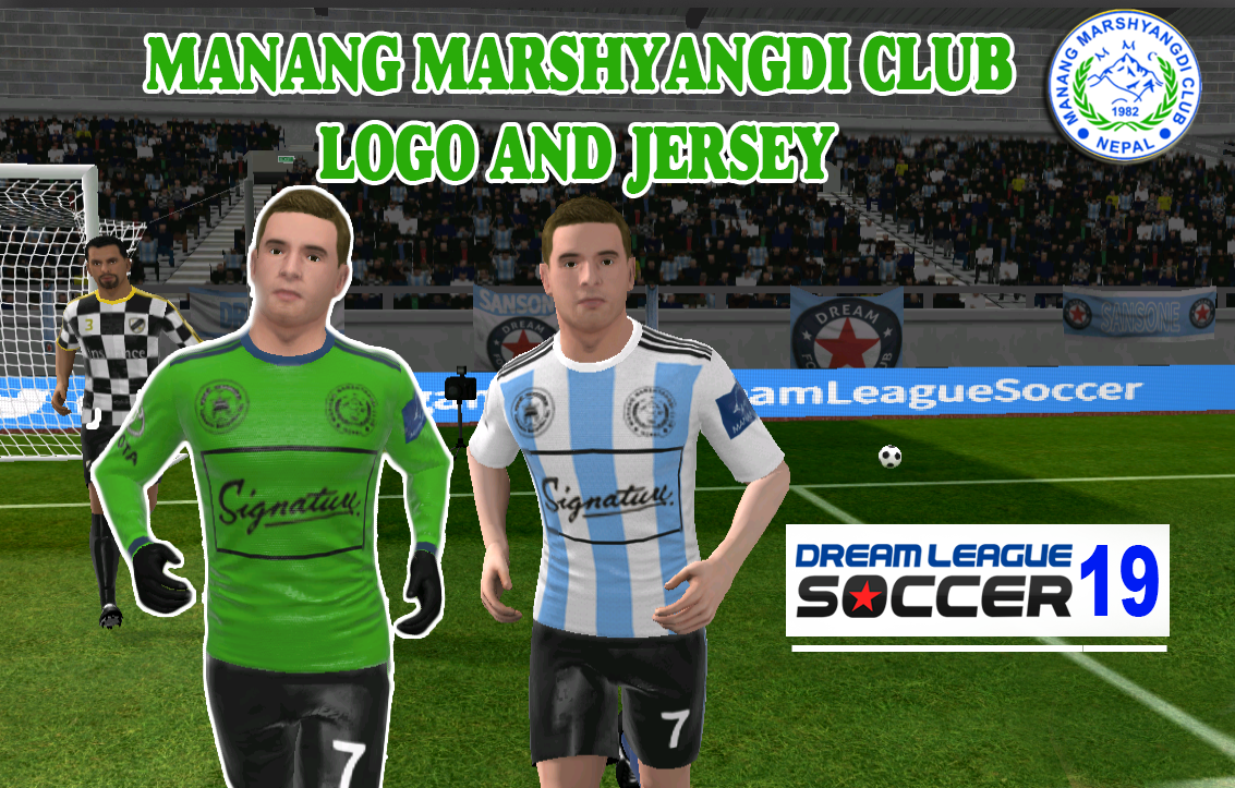 Manang Marshyangdi Club Dream League Soccer Kit 2019, Nepal Dream League Soccer kit and logo (2019)