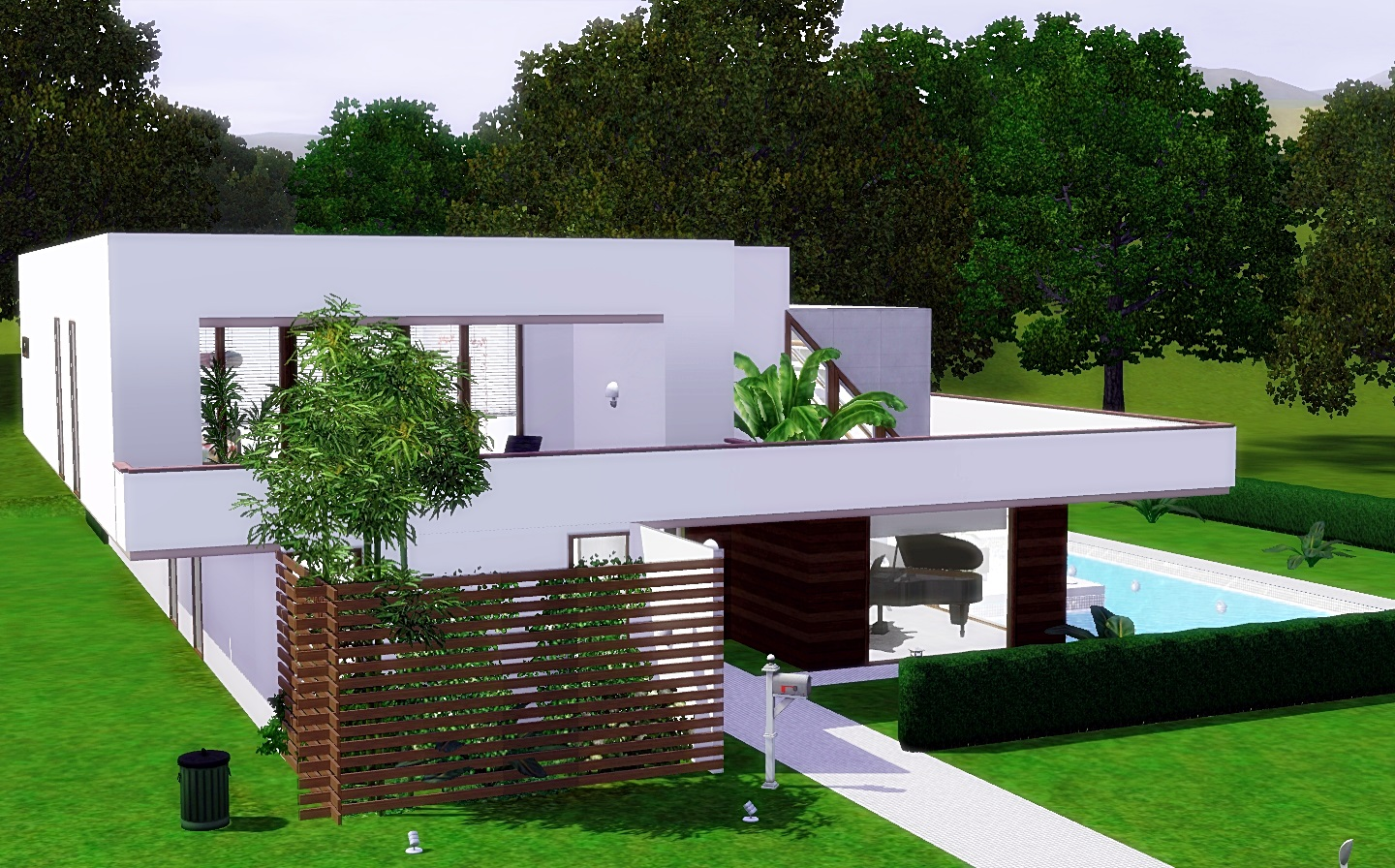Modern cozy house the sims 3 via sims for Modern house 3