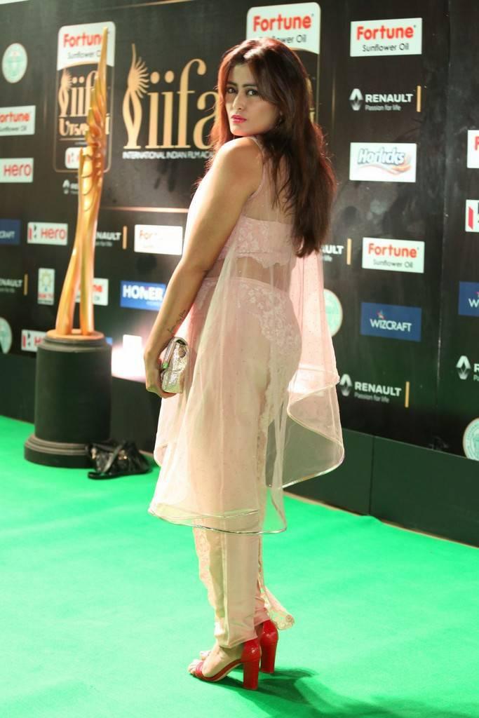 Telugu Model Nidhi At IIFA Awards 2017 In Pink Dress