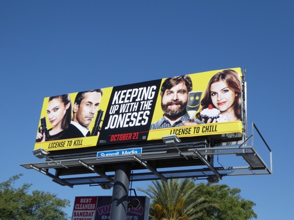 Keeping Up With Joneses movie billboard