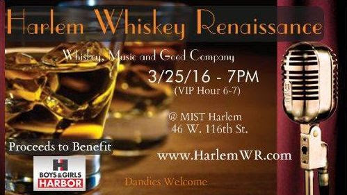 Flyer for Harlem Whiskey Renaissance
