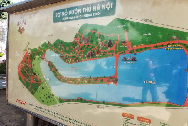 hanoi-zoo-map ハノイ動物園マップ