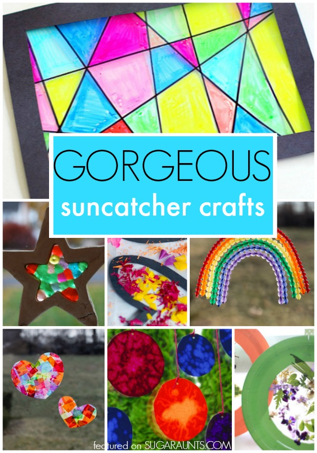 Gorgeous Suncatcher crafts for kids