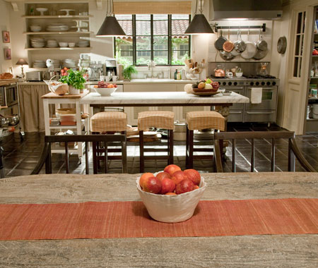 It's Complicated movie farmhouse kitchen with Belgian style
