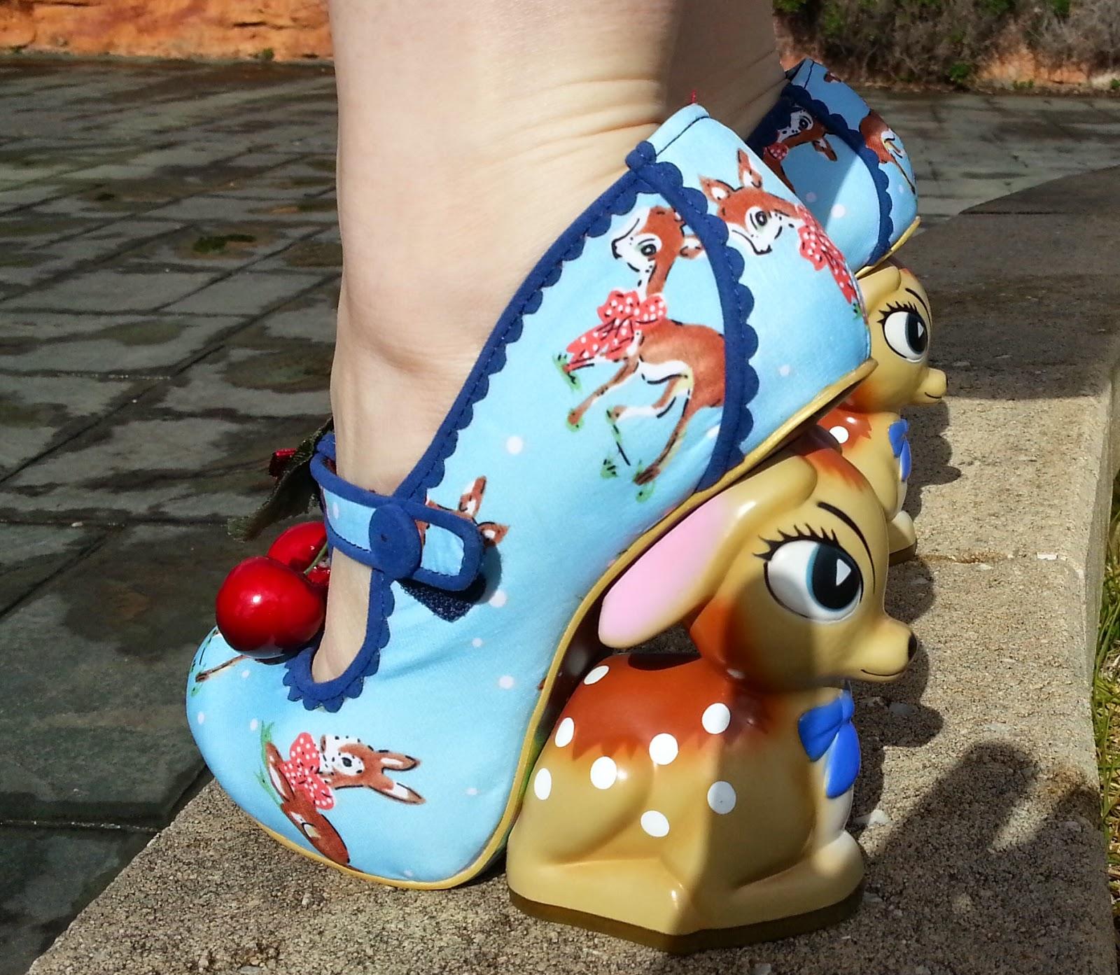 9886e31cc0c Vintage Musings Of A Modern Pinup  Irregular Choice BAMBI Deer Shoes!