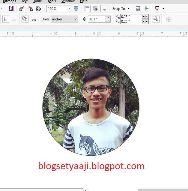 Cara Mudah Memotong Gambar Atau Foto Menjadi Bentuk Lingkaran Dengan Coreldraw Blog Setya Aji