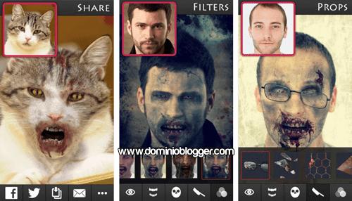 Transforma tu rostro con la aplicacion ZombieBooth 2