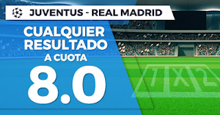 Paston Megacuota Champions League: Juventus vs Real Madrid 3 abril