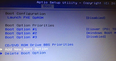 add boot trong hệ thống UEFI