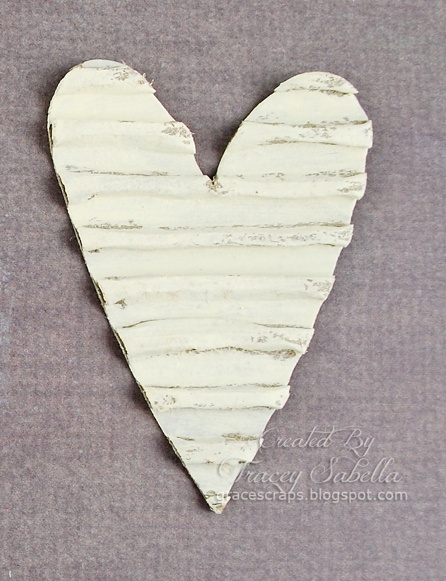 Garden Of Grace Card And Twine Wrapped Corrugated Heart