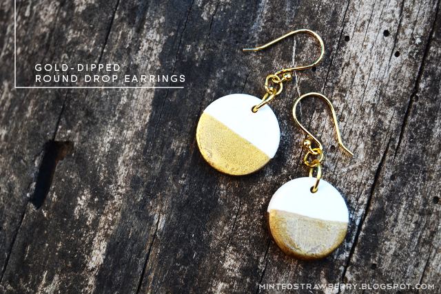 easy round dipped earrings