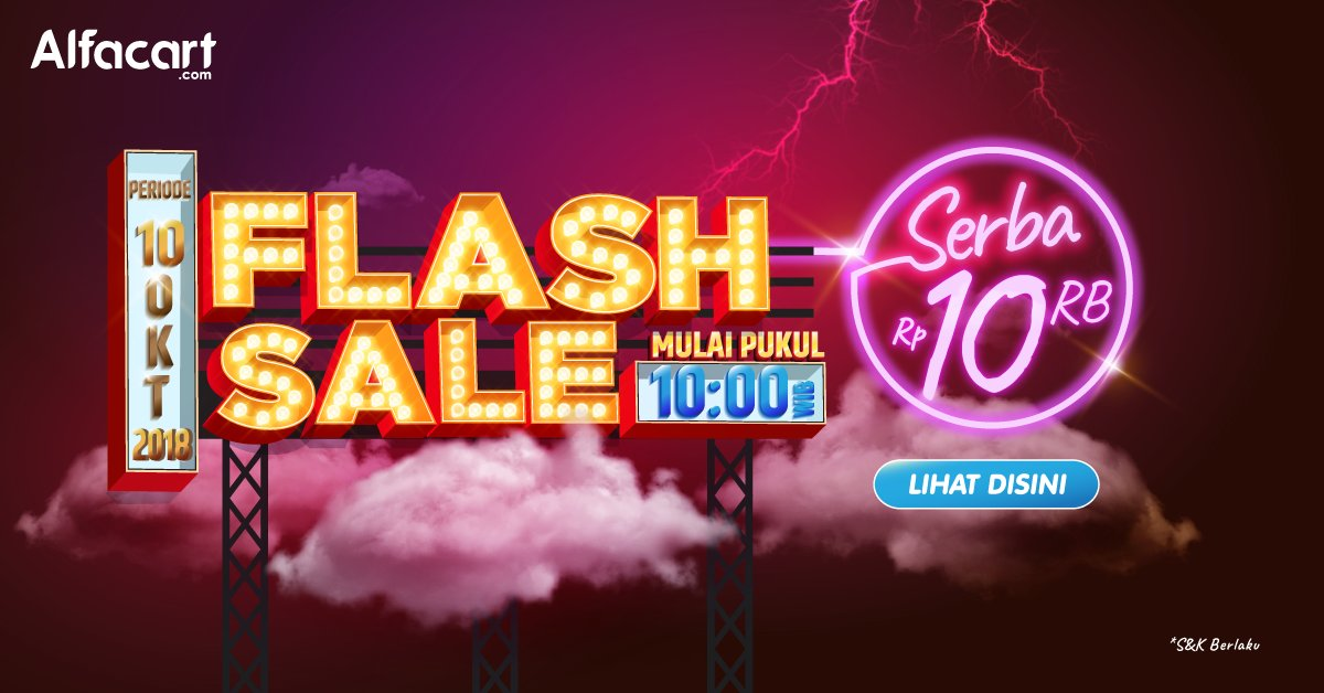 Alfacart - Promo Flash Sale Serba 10 Ribu (10 Okt 2018)
