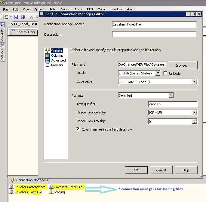 SSIS : Loading multiple text files into multiple tables based on