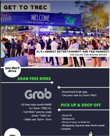 Grab Promo Code to/from TREC KL - Promo Codes MY