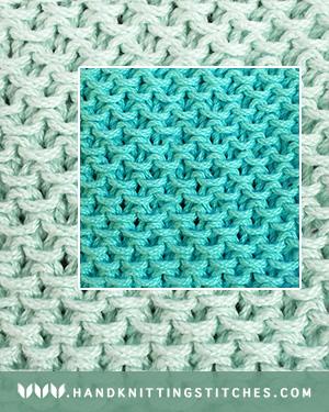 Hand Knitting Stitches - Stamen in the round