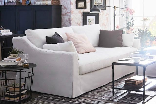 Nuevo sofá de IKEA - Farlov de 3 plazas y funda en lino y algodón