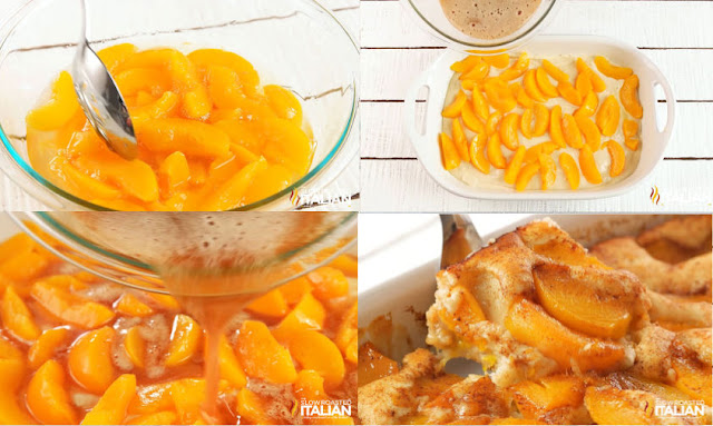 peach dump cake step by step