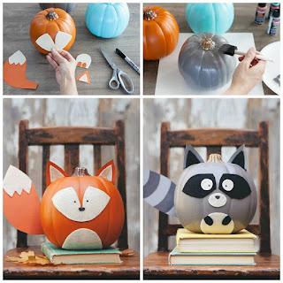 calabazas decoradas para niños en halloween