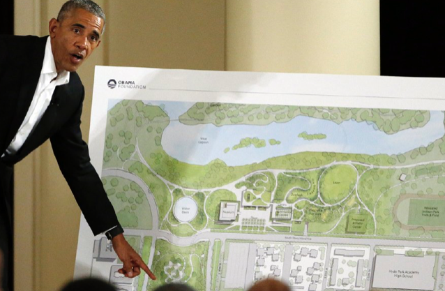 The battle to shut down Obama's presidential center