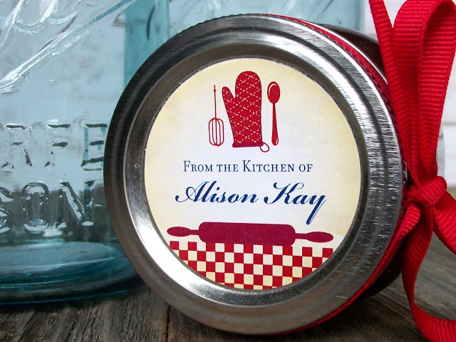 Colorful Adhesive Canning Jar Labels Custom Country Kitchen Labels